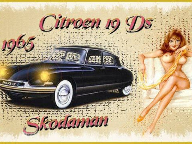 Citroen DS Pinup Girls… Really.