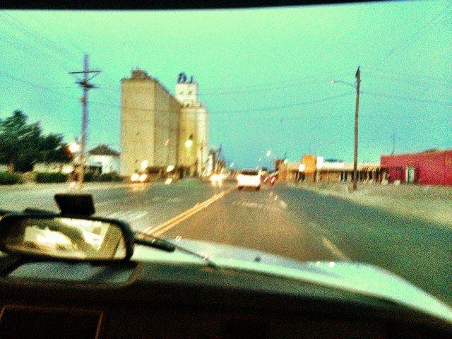 Citroen DS driving through Lubbock.