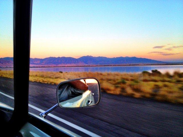 Citroen DS in the Utah desert