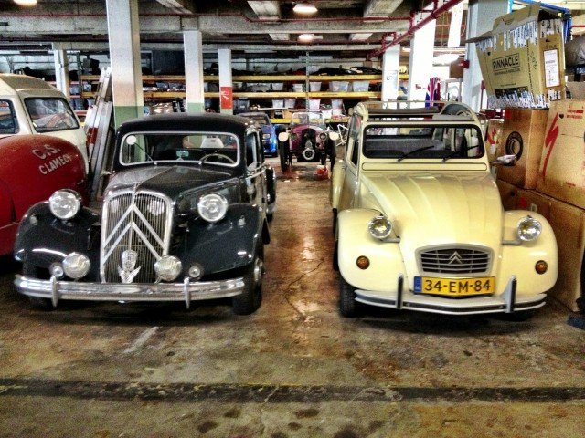 Citroen Traction Avant and 2CV at the Lane Museum