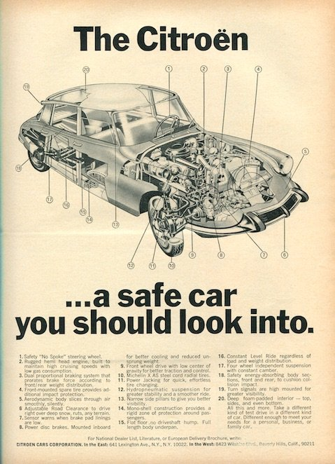 Vintage Citroen DS advertising 8