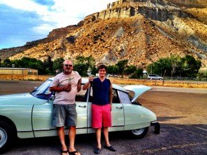 citroen ds by the mountain